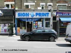 Sign Print image