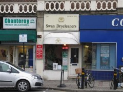 Swan Drycleaners, exterior picture