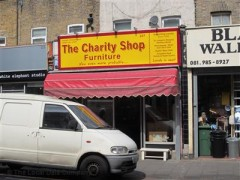 The charity shop furniture 227 well street london for Furniture charity shops