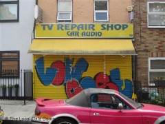 How can you find TV repair places nearby?