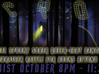 CYOA! Spooky Sober Queer+LGBT Dance Party with Raffle for Beyond Bars image