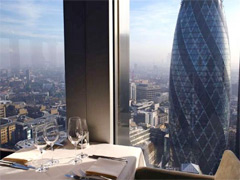 Take in London's best views as you eat image
