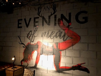 "A gastronomic and artistic feast – ""An evening of meat"" immersive performance at The Vaults, Waterloo image"