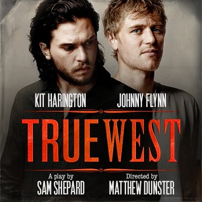 Kit Harington and Johnny Flynn in True West at The Vaudeville Theatre image