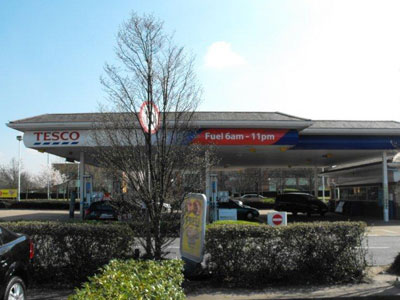 Tesco Petrol Filling Station Picture