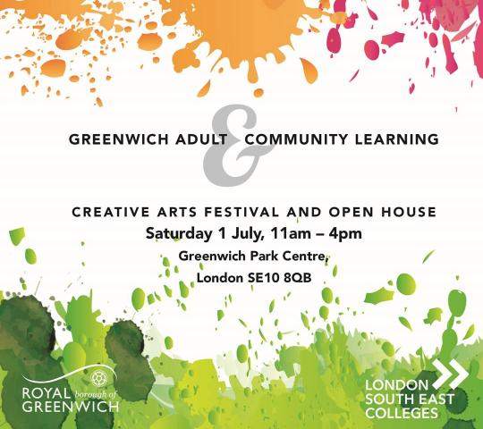 Greenwich Adult Learning Creative Arts Festival & Open House image