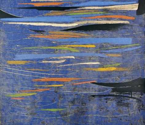 Reflections In A Blue Lake - The Woodblock Prints Of Chen Li image