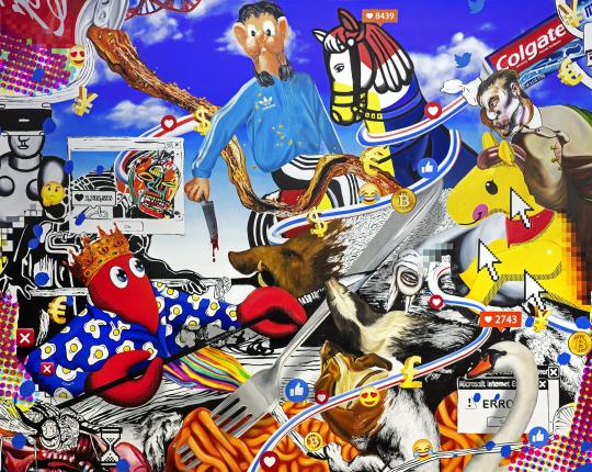 Philip Colbert 'Hunt Paintings', presented by Unit London at Saatchi Gallery image