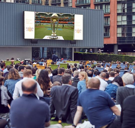 Cricket World Cup free outdoor screening Merchant Square image