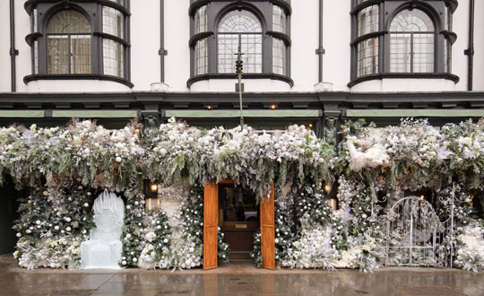 The Ivy Chelsea Garden's Narnia Inspired Winter Wonderland Installation image