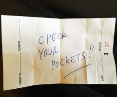 Check your pockets! image