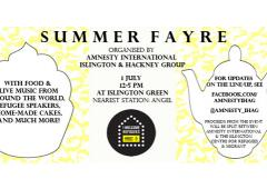 Islington and Hackney Amnesty Group Summer Fayre image