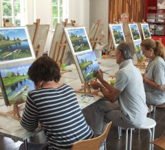 Painting Class: Expressionism & Impressionism using Acrylics image