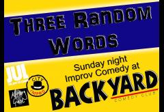 Three Random Words - Improv at Backyard Comedy Club image
