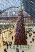 St Pancras International unveils its blooming festive 2017 Christmas tree image