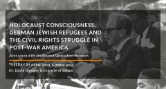 Talk: Holocaust Consciousness, German Jewish Refugees and the Civil Rights Struggle in Post-War America image