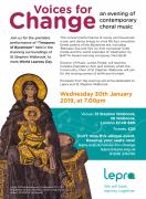 Voices for Change: an evening of contemporary choral music image