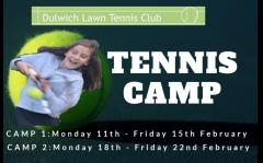 Tennis Camp- Half Term - February 2019 image