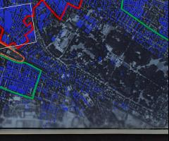 Mapping German missile attacks on London 1944 - 45 image