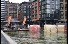 Free water zorbing on Grand Union Canal image