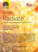 Radiate - Songs for a summer's evening - with a chance to shine image