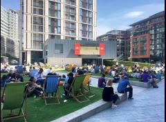 Wimbledon outdoor screening at Merchant Square image