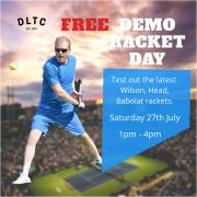 Free Demo racket day image