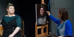 Portrait Painting: WO2 Catherine Munro MBE image