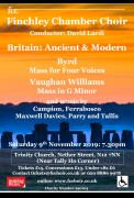 Finchley Chamber Choir: Britain Ancient and Modern image