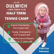 Tennis Half Term- February 2020 image
