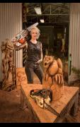 Buffalo Trace Bourbon Whiskey Stages London Chainsaw Carving Exhibition image
