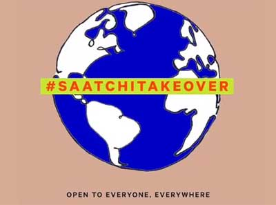 #SAATCHITAKEOVER image