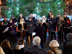 Christmas Carols In Trafalgar Square image