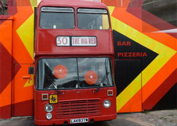 Pizza on a bus image
