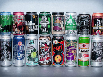 Craft beer by the can image