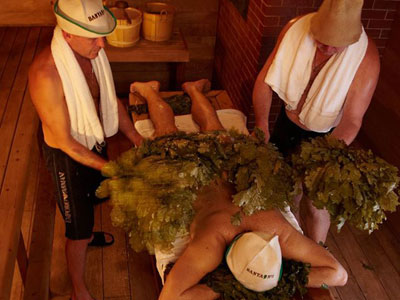 Head to a Russian spa with vodka image