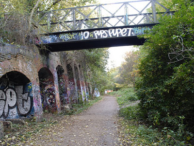 Walk along a disused railway track image