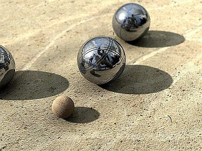 Pétanque in a bar  image