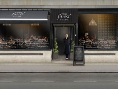 Drink wine at Tesco's first wine bar  image