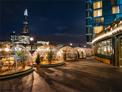 Chill with cocktails in an Igloo by the Thames image