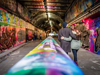 Visit a revamped graffitti tunnel  image