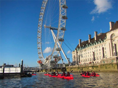 See London from a kayak image