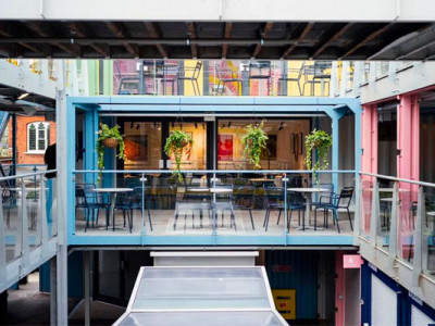 Eat at London's first restaurant in a shopping container image