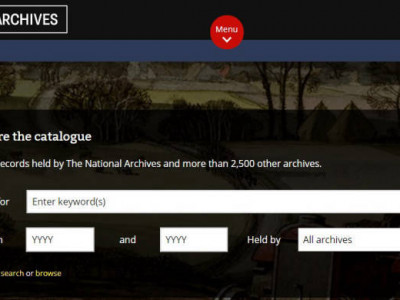 Top Level Tips: Using The National Archives' catalogue image