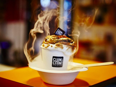 Chin Chin Icecream's 100 free vegan hot chocolate giveaway image