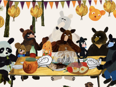 PICNIC WITH BEARS online art workshop for children image