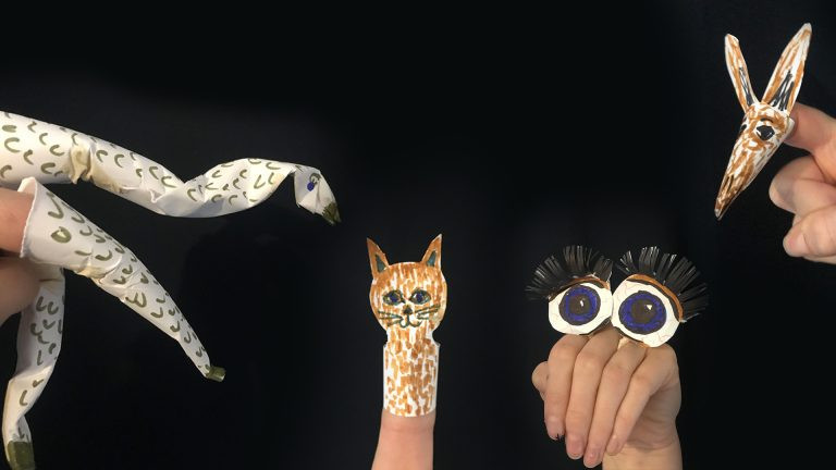 Fingers & Paper Scruffy Puppets image
