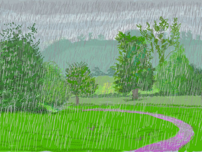 David Hockney: The Arrival of Spring, Normandy, 2020 image