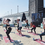 Get stretchy with Pop Up Yoga at the Beach picture