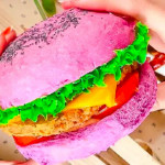 Eat day glo vegan burgers picture